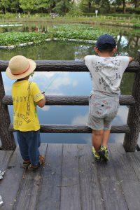 お魚釣れるかな?